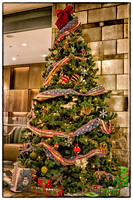 This patriotic tree sits in the Armed Forces Retirement Home.